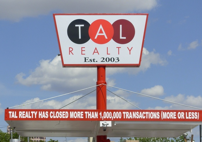 Tal Realty Sign
